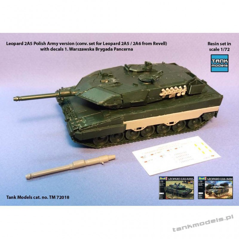 Leopard 2A5 Polish Army with decals - Tank Models 72018