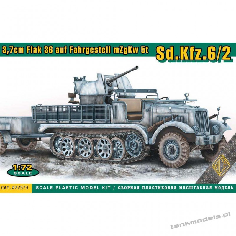 Sd.Kfz.6/2 with 3,7cm Flak 36 auf Fahrgestell mZgKw 5t - ACE 72573