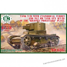 T-26 w/cylindrical turret & 76,2mm tank gun ( KT-28) - UMMT 686-1