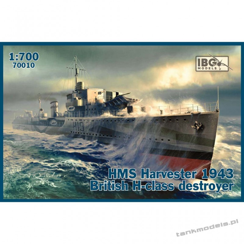 HMS Harvester 1943 British H-class destroyer - IBG 70010