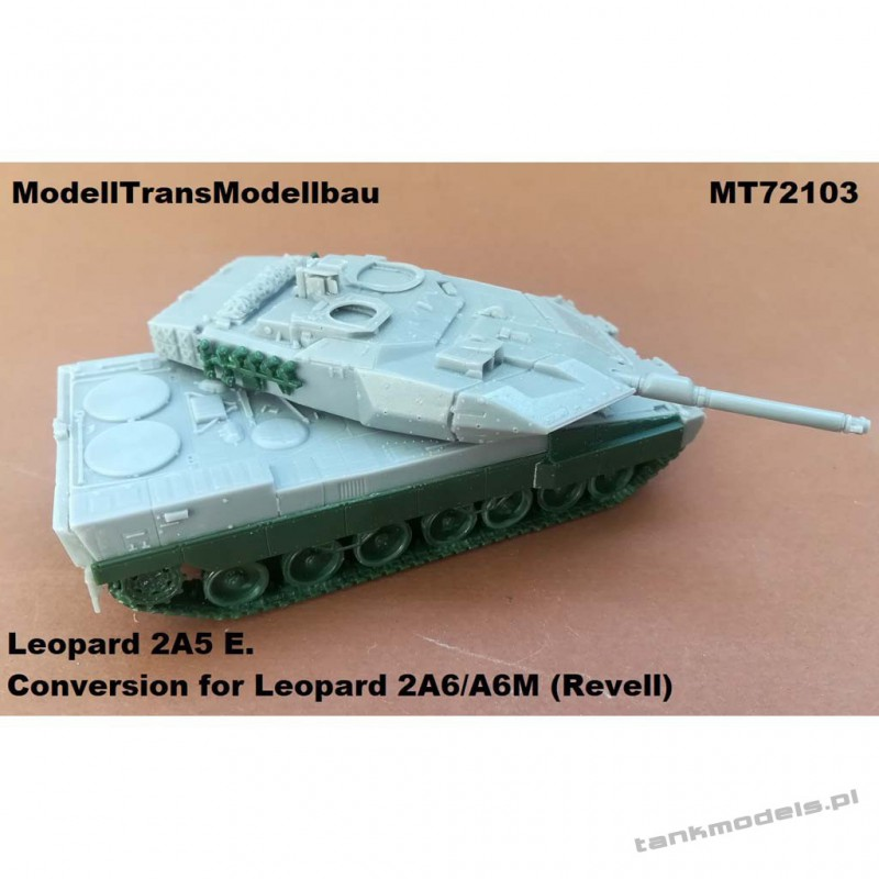 Leopard 2 E (conv. for Leopard 2A6/A6M (Revell) - Modell Trans 72103