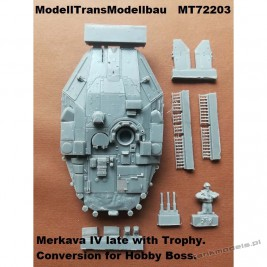 Merkava IV late with Trophy (conv. for Hobby Boss) - Modell Trans 72203
