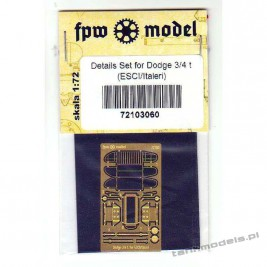 Dodge 3/4 t Detail set for ESCI/Italeri - FPW Model 72103