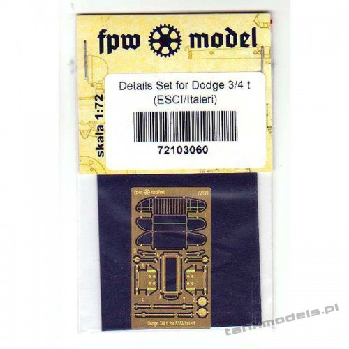 Dodge 3/4 t Detail set for ESCI/Italeri - FPW Model 72103