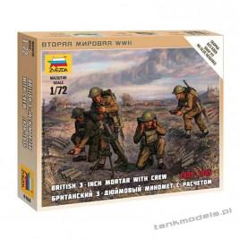 British Mortar w/ Crew 1939-1943 - Zvezda 6168