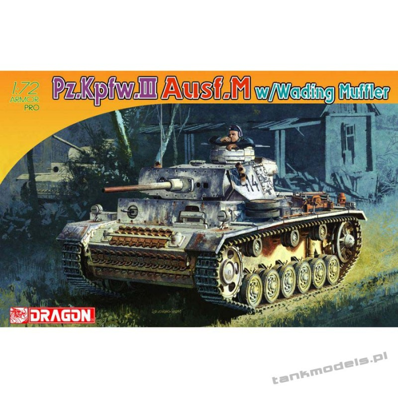 Panzer III Ausf.M w/Wading Muffler - Dragon 7290