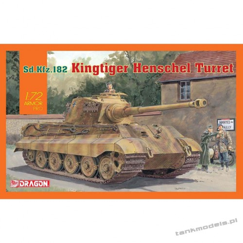 King Tiger Henschel Turret Sd.Ktz. 186 - Dragon 7558