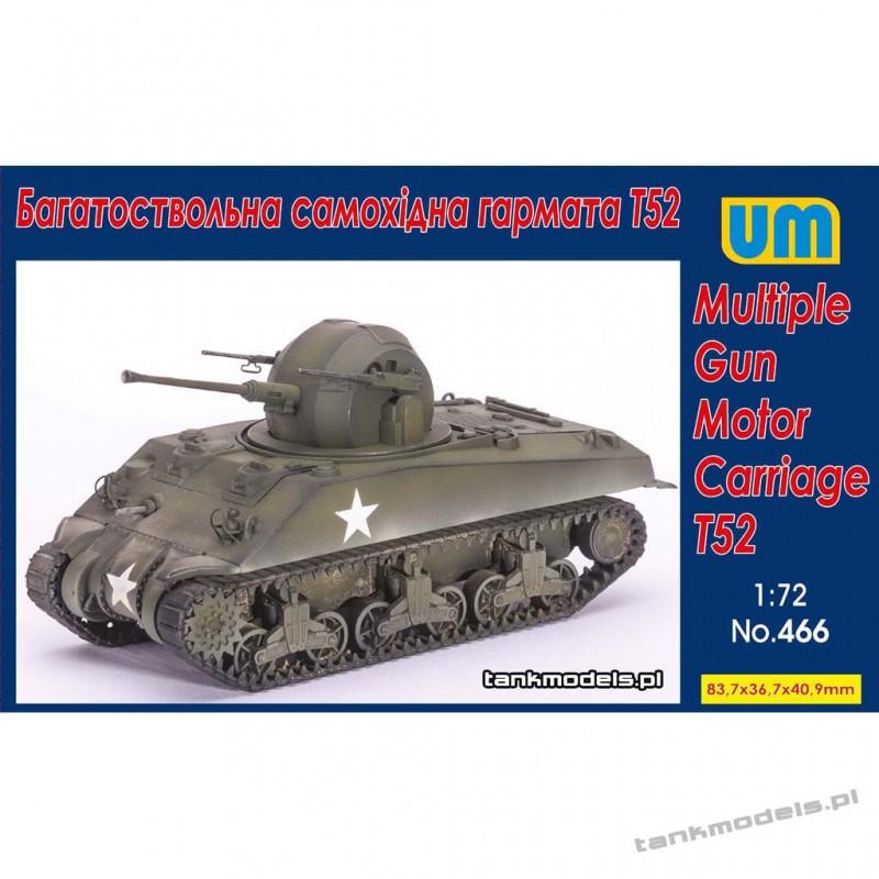 Multiple Gun Motor Carriage T52 - Unimodels 466