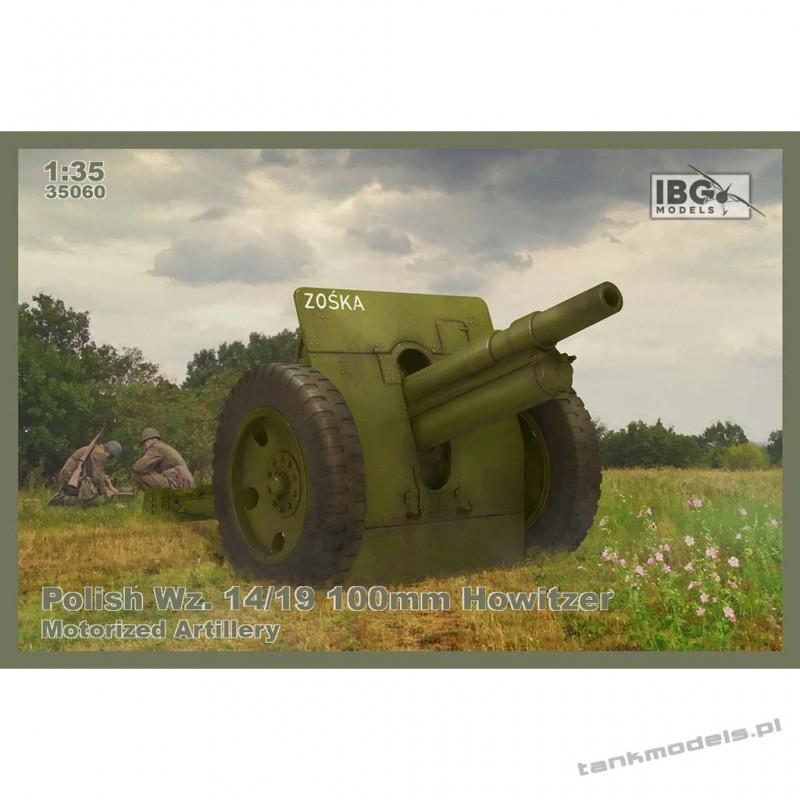 Polish Wz. 14/19 100mm Howitzer - Motorized Artillery (DS wheels) - IBG 35060