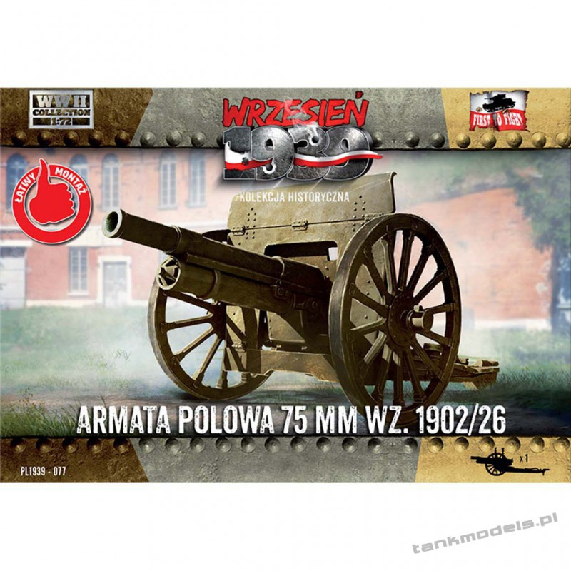 Polish field cannon 75mm wz. 1902/26 - First To Fight PL1939-77