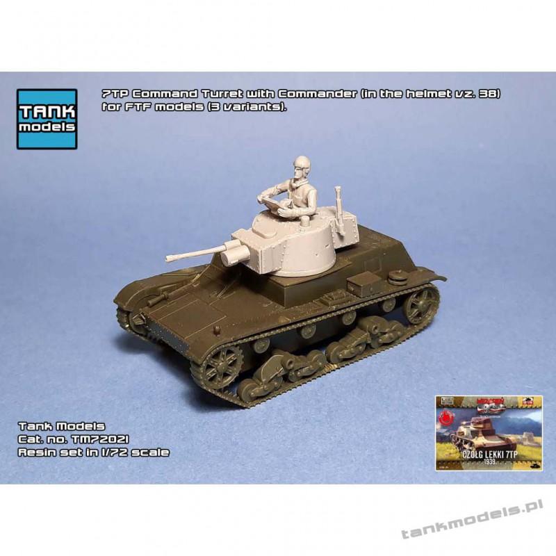 7TP Command Turret with Commander for FTF models (3. variants) - Tank Models 72021