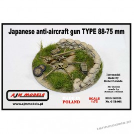 Japanese AA Gun Tpe 88-75mm - AJM Models G72-001