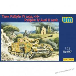 Panzer IV Ausf. H w/schürzen- Unimodels 547