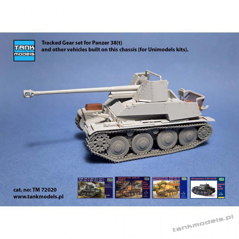Tracked Gear set for Panzer 38(t) (for Unimodels) - Tank Models 72022