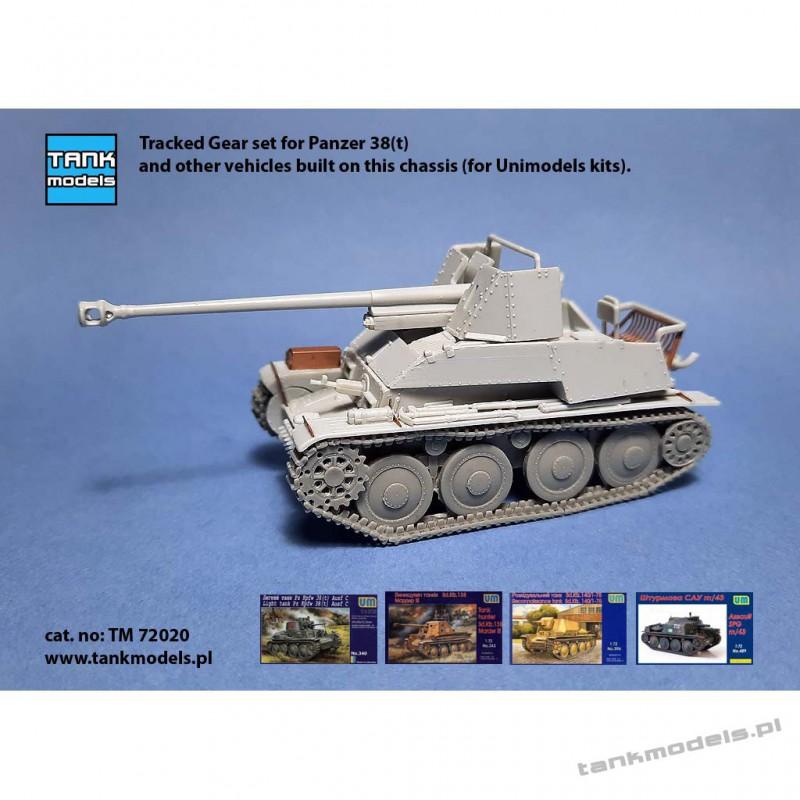 Układ jezdny do Panzer 38(t) for Unimodels - Tank Models 72020