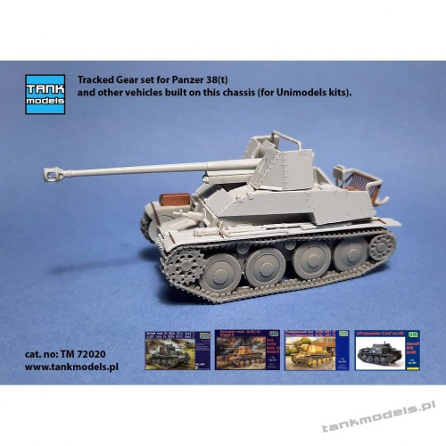 Tracked Gear set for Panzer 38(t) Ausf. C (for Unimodels) - Tank Models 72020