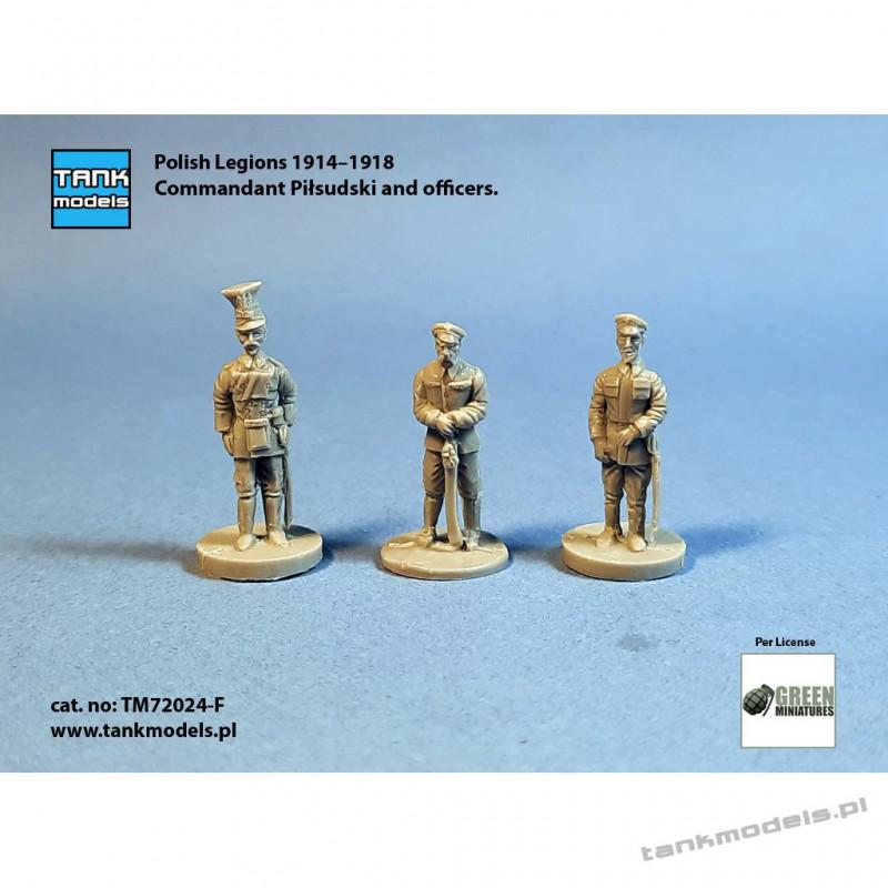 Polish Legions 1914–1918 - Commandant Piłsudski & Officers - Tank Models 72024