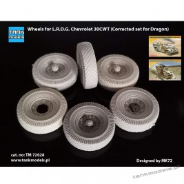Wheels for L.R.D.G. Chevrolet (Corrected set for Dragon) - Tank Models 72028