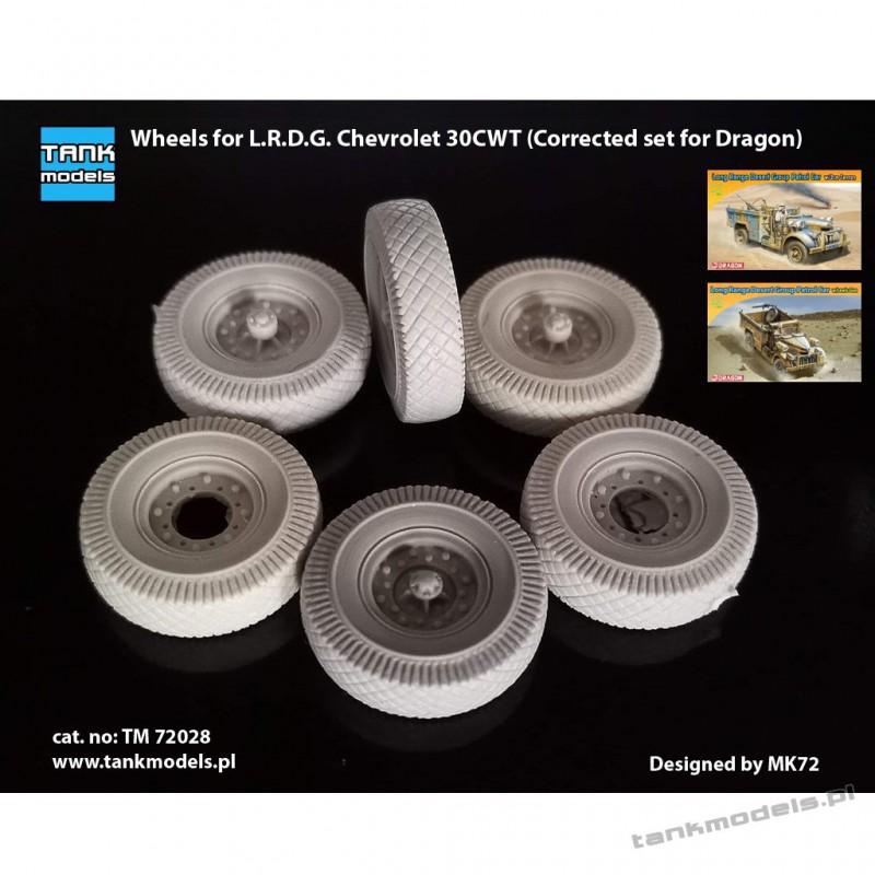 Wheels for L.R.D.G. Chevrolet (Corrected set for Dragon) - Tank Models 72028