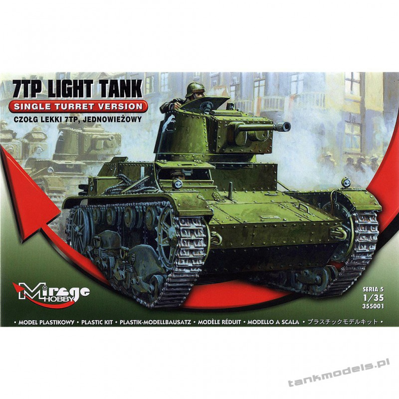 7TP Polish Tank Single turrer - Mirage Hobby 355001