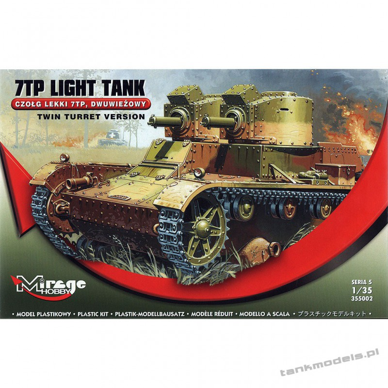7TP Polish Tank twin turrer - Mirage Hobby 355002