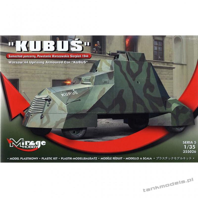 """Samochód Pancerny """"Kubuś"""" (Powstanie Warszawskie 1944) - Mirage Hobby 355026"""
