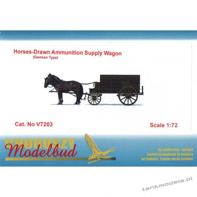 Horses-Drawn Ammunition Supply Wagon ( German Type) - Choroszy Modelbud V7203
