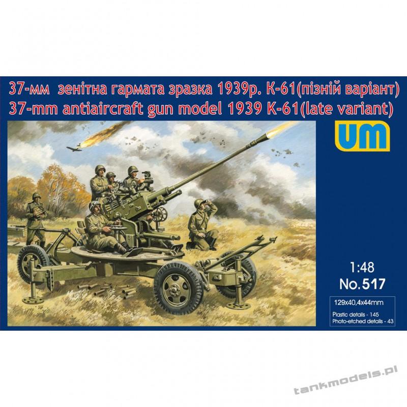 Soviet 37-mm antiaircraft gun K-61 (late variant) - Unimodels 517