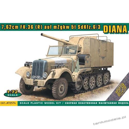"""Sd.Kfz.6/3 """"Diana"""" with 7,62cm FK.36 (R) auf mZgkw 5t - ACE 72574"""