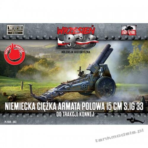 German 150mm sIG 33 howitzer in horse-drawning version - FTF PL1939-83