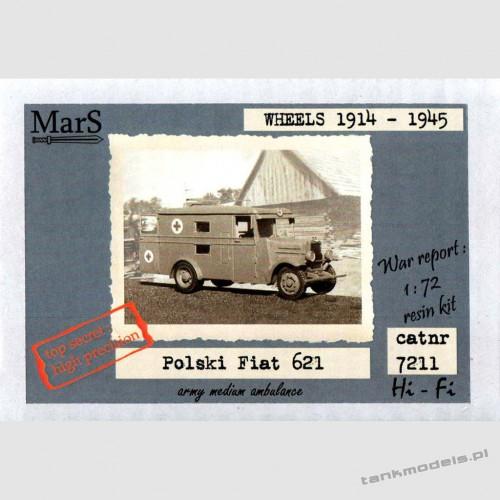 Polish Fiat 621L/s Ambulance Polish Army - Mars 7211