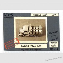 Polski Fiat 621L/c Field fuel tank - Mars 7224