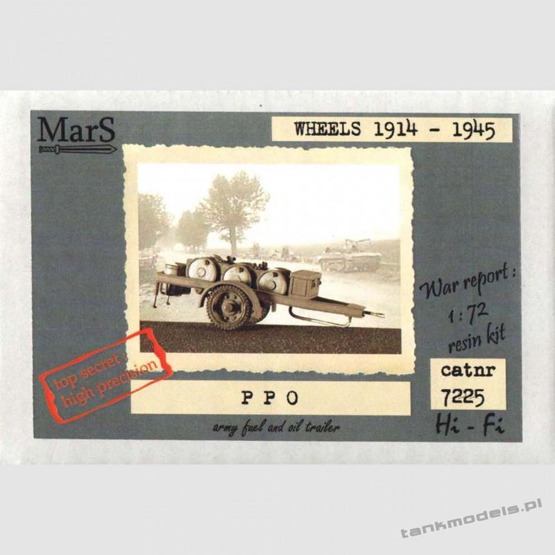 PP-O fuel-oil trailer Polish Army - Mars 7225