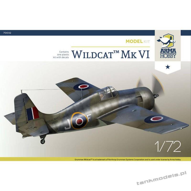 Grumman Wildcat Mk VI Model Kit - Arma Hobby 70032