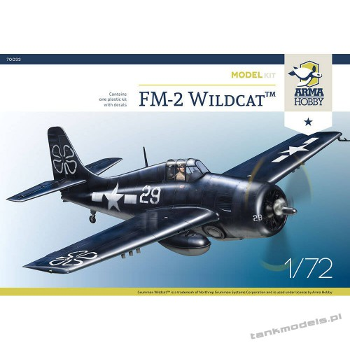 Grumman FM-2 Wildcat Model Kit - Arma Hobby 70033