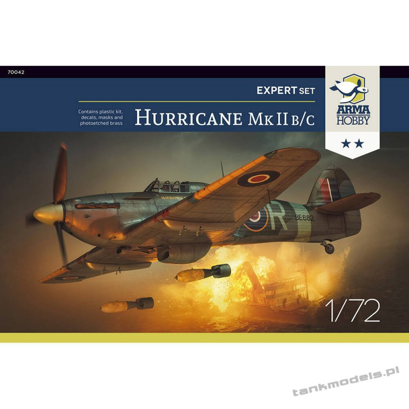 Hawker Hurricane Mk II b/c Expert Set - Arma Hobby 70042