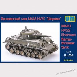 M4A3 HVSS flamethrower tank - Unimodels 380