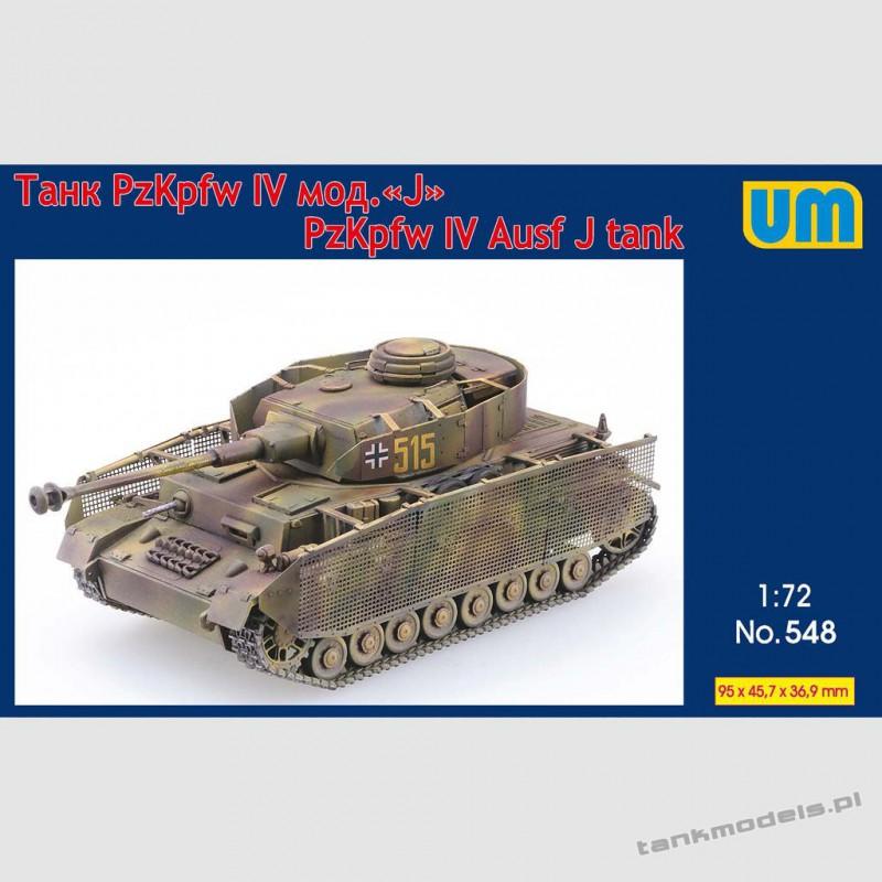 Panzer IV Ausf. J w/schuerzen - Unimodels 548