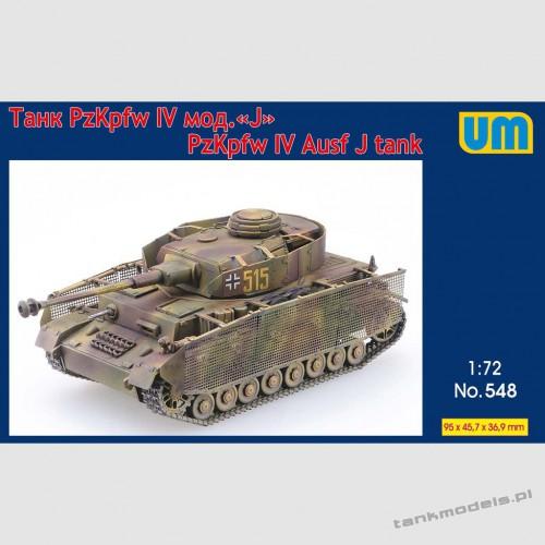 Panzer IV Ausf. J w/schürzen - Unimodels 548