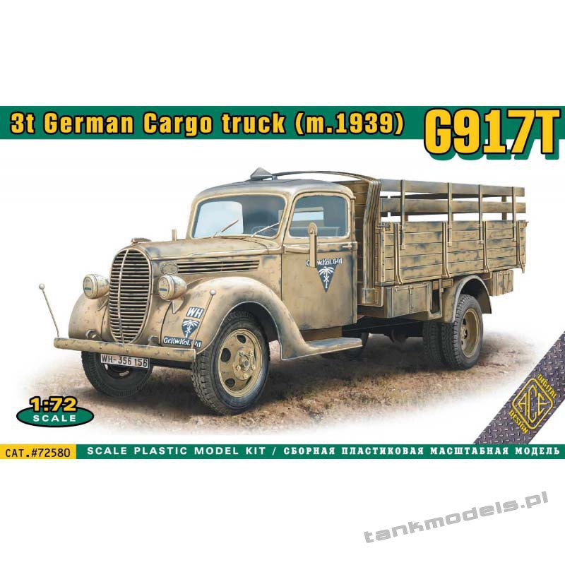 Ford G917T 3t Metal Cab German Cargo truck (m.1939) - ACE 72580