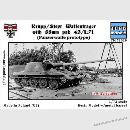 Krupp Steyr Waffentrager mit 88mm Pak 43L /71 + metalowa lufa (Edycja Limitowana) - Tank Models 72029