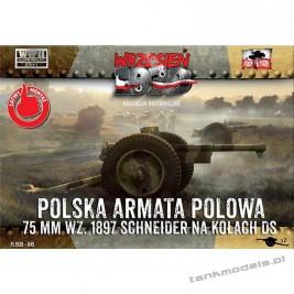 75 mm wz. 1897 Schneider DS wheels - First To Fight PL1939-45