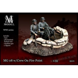 MG 08 w/Crew on Fire Point WW I - M Model 35121