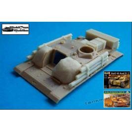 Equipment for StuG III (Beton, Holzzusatzpanzerung, Kasten) - Modell Trans 72075