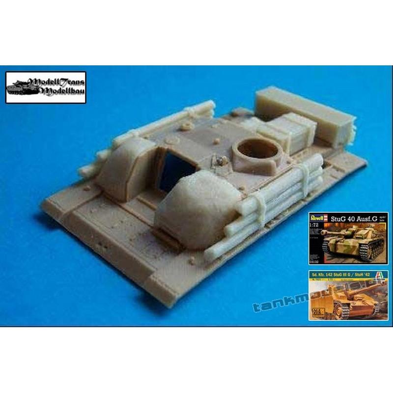 Equipment for StuG III (Beton, Holzzusatzpanzerung, Kasten)