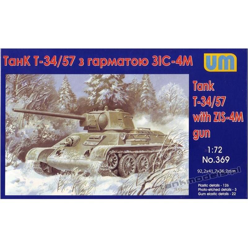 T-34/76-57 Soviet tank with ZIS-4 gun