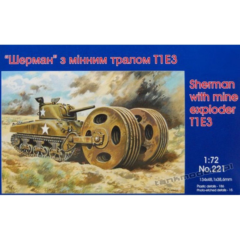Tank M4A1 with T1E3 Mine Exploder