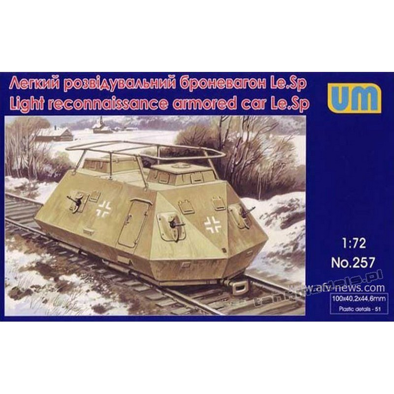 Light reconnaissance armored car Le.Sp Radio