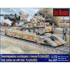 Carrier car with tank Pz.Kpfw 38 (t)- UniModels 259