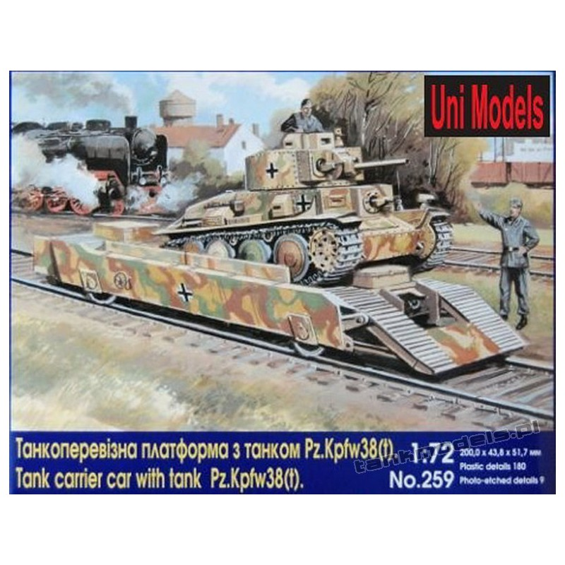 Tank carrier car with tank Pz.Kpfw 38 (t)